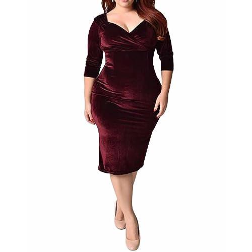 a7da1a8f836 BIUBIU Women s 50s Plus Size Vintage Swing Dress Bridesmaid Cocktail UK  16-26