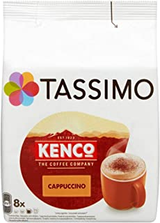 TASSIMO Kenco Cappuccino Coffee Capsules Refills T-Discs Pods 5 Pack, 40 Drinks