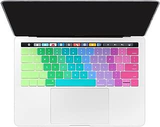 TwoL New MacBook Pro 13 15インチ キーボードカバー(US 英語配列) 薄型 防塵キーボード キースキン(日本語配列に対応できません) (対応モデル:MacBook Pro 13 15 Touch Bar 2016/2017, A1706/A1707) (虹))