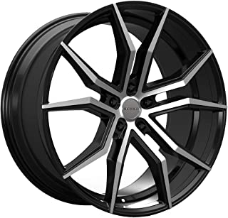 Rosso ICON 702 Gloss Black/Machined Wheel Finish (22 x 8.5 inches /5 x 120 mm, 32 mm Offset)