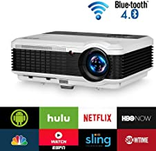 EUG LCD Wireless WiFi HD Projector WXGA Native 4600 Lumens, Bluetooth, Android, 1080P..