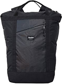 Flowfold Denizen 18L Minimalist Commuter Backpack - Ultralight Tote Backpack, Water-Resistant, Made in USA Laptop Backpack (Jet Black)