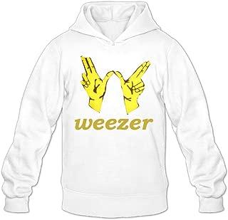 GOOOET Men's Weezer Victory Logo Hoodies