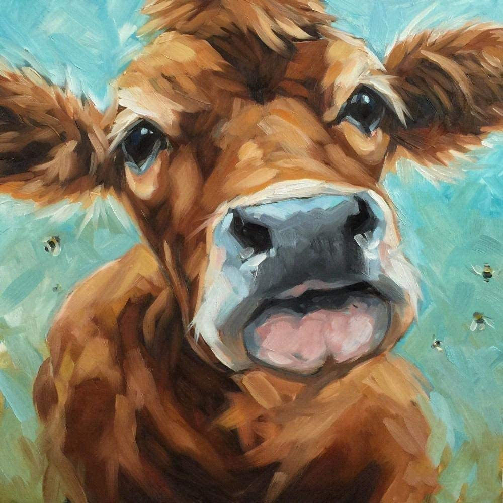 Genuine Free Shipping Paint by Numbers for Adults Jersey Cow Digital Canvas Austin Mall Oil Painti