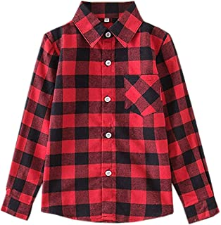 SANGTREE Mommy & Girls' Long Sleeves Plaid Flannel Shirt