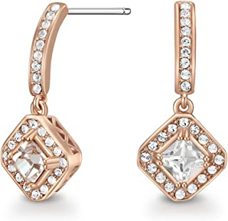 Mestige Women Glass Rose Gold Elina Earrings with Swarovski Crystals