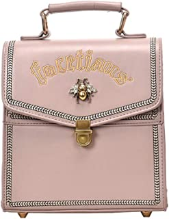 FTSUCQ Womens Mini Retro Daypack Satchels Shoulder Handbags Casual Hobos Satchels School Bag Backpack