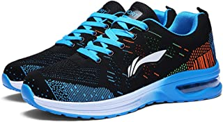 Yong Ding Unisex Casual Sneakers Breathable Trainers Air Cushion Couples Running Shoes Low Top Comfy Sport Shoes