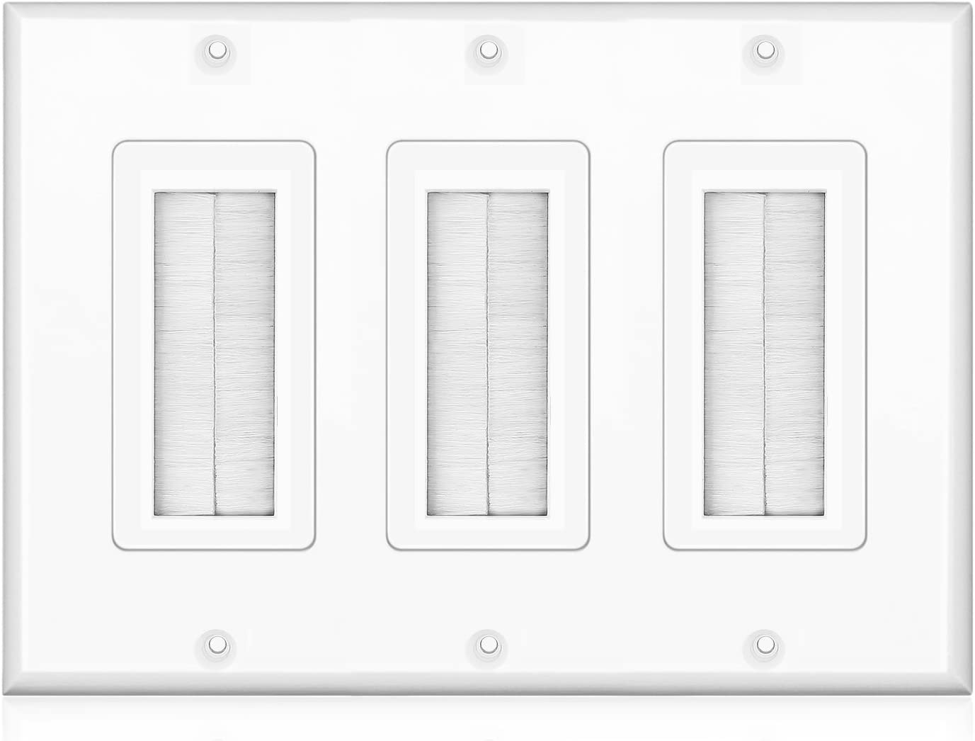 TNP Brush Wall Plate - Price reduction Triple Max 73% OFF Cable Access Bris Gang Entry