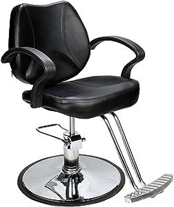 BarberPub - Sedia da parrucchiere, in acciaio, taglia unica