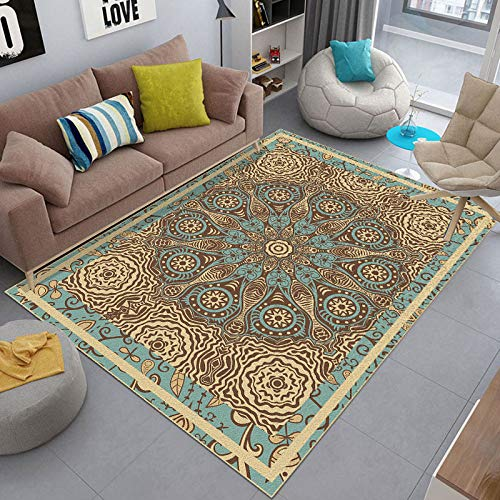 Michance Household 3D Printed Carpet, Living Room, Bedroom, Coffee Table, Bay Window, Full Bed, Bedside Mat, Suitable For Parties, Banquets, Dinners, Work, Etc.