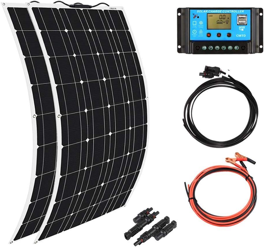 XINPUGUANG 2pcs 100w Monocrystalline Solar Panel Flexible 200W