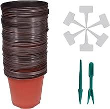 10cm plastic plant pots