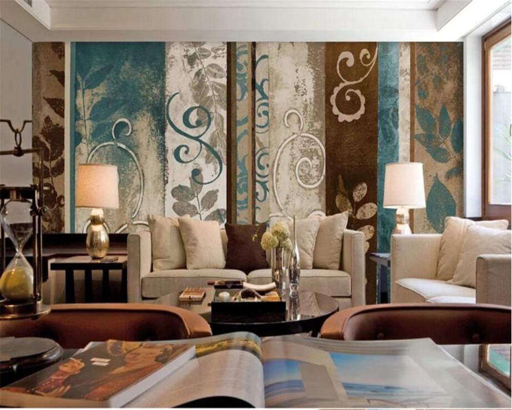 Customized 3D Wallpaper Retro New life Sales Nostalgic Vert Old Pattern Striped