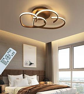 Plafonnier LED Moderne Dimmable Salon Plafonnier avec Télécommande Lampe de Chambre Créativité Lustre Design en Forme de C...