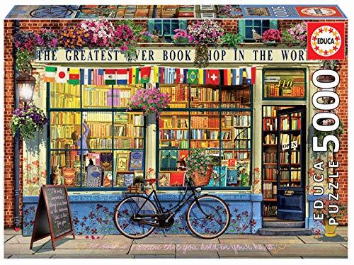 Educa-Puzzle de 5000 Piezas La Mejor Librería del Mundo (18583)
