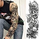 Handaxian 3pcs-Impermeable Etiqueta engomada del Tatuaje Temporal Angel Wing Tiger Flower Tattoo Tattoo Set Hombres y Mujeres 3pcs-15