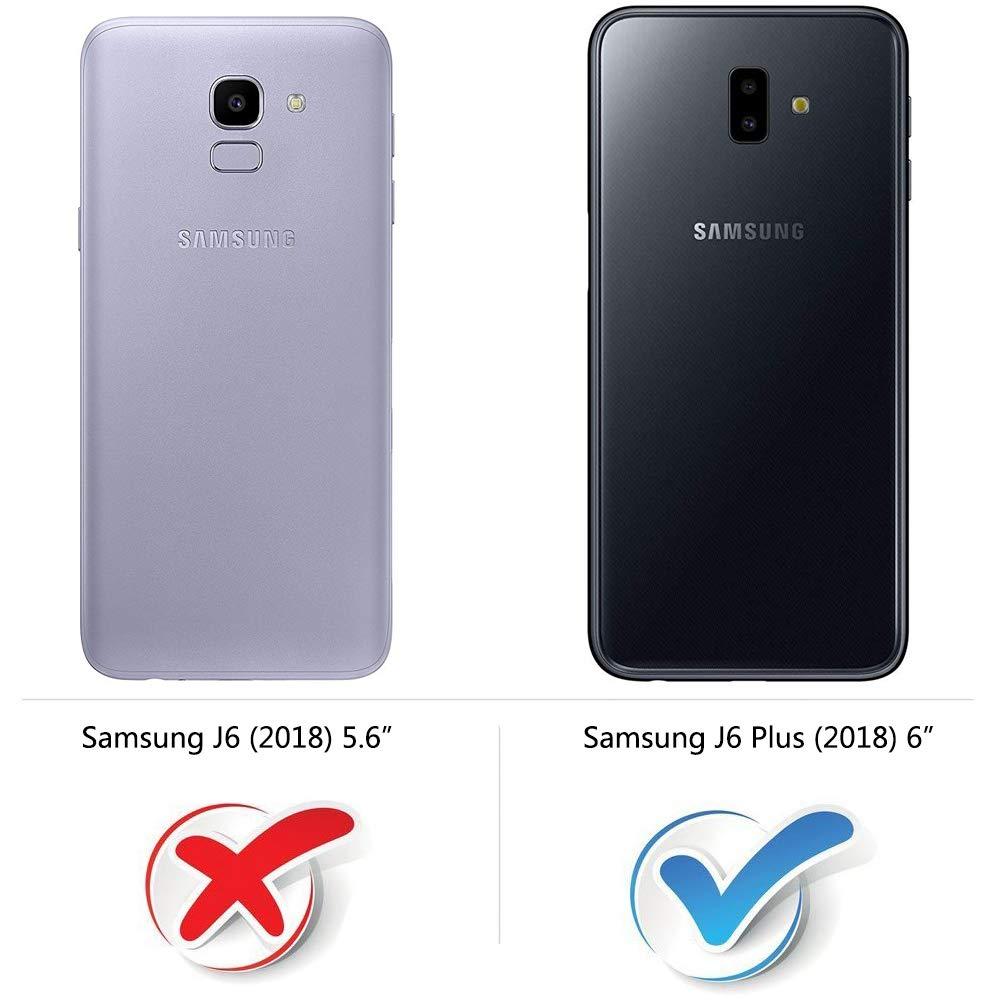 COODIO Funda Samsung Galaxy J6 Plus con Tapa, Funda Movil Samsung J6 Plus, Funda Libro Galaxy J6 Plus Carcasa Magnético Funda para Samsung Galaxy J6 Plus 2018, Azul Oscuro/Rojo: Amazon.es: Electrónica