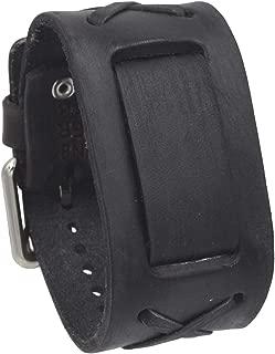 Nemesis FXB-KK Charcoal 39mm Wide 20mm Lug Width Wide Leather Watch Cuff Band