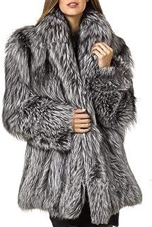 معطف معطف شتوي من الفرو الصناعي للنساء من Lisa Colly معطف فرو ثعلب صناعي طويل معاطف خارجية معطف نسائي معطف فرو