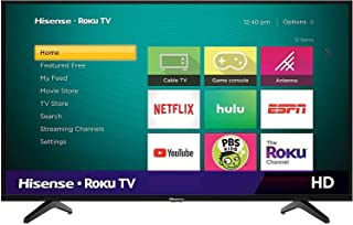 Hisense 32 Inch TV 4K UHD Smart TV, With Dolby Vision HDR, DTS Virtual X, YouTube, Netflix, Freeview Play & Alexa Built-i...
