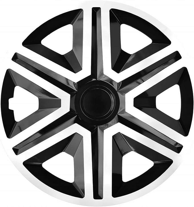 Nrm Radkappen Action Weiss Schwarz 15 Zoll 4 X Universal Radzierblenden Radkappen Auto