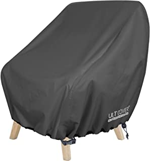 ULTCOVER Waterproof Patio Chair Cover – Outdoor Lounge Deep Seat Single Chair Cover Fits Up to 32L x 34W x 32H inches, Black