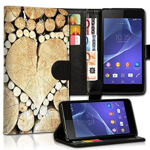 wicostar Book Style LG L Bello Premium PU-Leder Tasche Flip Brieftasche Handy Hülle Kartenfächer mit Standfunktion für LG L Bello - Design Flip MVC95