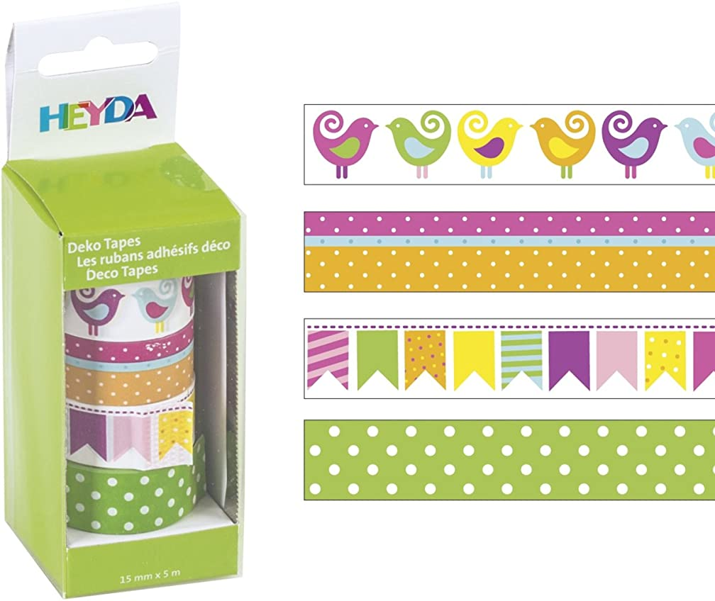 Baier & Schneider Adhesive Decorative Tapes 'Birds etc?–?Tape Repositional Sticky Tape Size (L x W)