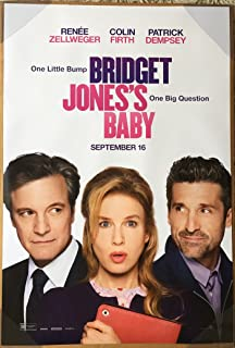 BRIDGET JONES' BABY MOVIE POSTER 2 Sided ORIGINAL 27x40 RENEE ZELLWEGER
