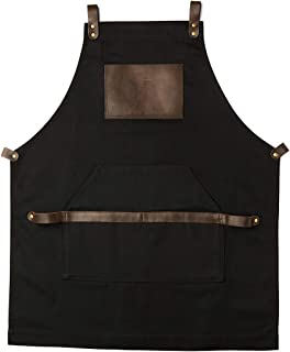 canvas apron with leather straps
