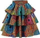 HongyuAmy Women African Print Skirt Ankara Skirts Dashiki Clothing Medium, Color A