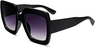 Square-Frame Designer Inspired Oversize Sunglasses for...