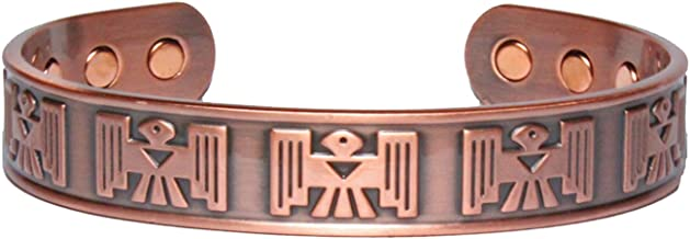 Sold by ChiChi Beads Thunderbird Solid Copper Phoenix Magnetic Therapy Celtic Cuff Bracelet 2000 Gauss Each Magnet
