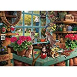 1000 Piece Jigsaw Puzzle -Cute Cat on The Window - Naughty Cat Jigsaw Puzzle for Kids Adult Teens Reduced Pressure Toy Gift - Learning and Education Toys