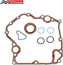 Vincos Timing Cover Gasket Kit TCS46000 Compatible with Dodge/Jeep 1999-2009 3.7L 4.7L Replacement For Mitsubishi Raider 2006-2007 4.7L Vin N Replacement for Dodge Dakota 2004-2009 3.7L Vin Code K