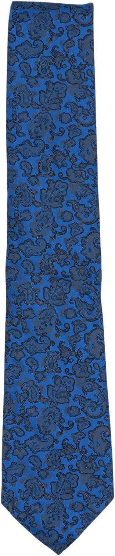 Stefano Ricci Men's Blue/Black Luxury Collection Italian Silk Paisley Necktie - One Size
