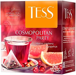 Tess, Cosmopolitan Party - Hibiscus, Cranberry, Grapefruit, 20 sobres