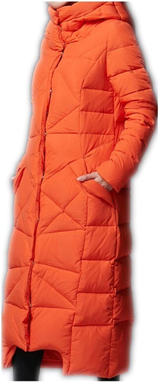 QfNZqT Women Winter Down Jackets Female Extra Long Hooded Down Coat