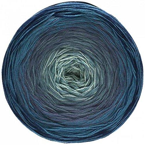 Lana Grossa Shades of Cotton 106 - Marine/Dunkelblau/Taubenblau/Blaugrau/Weißgrau