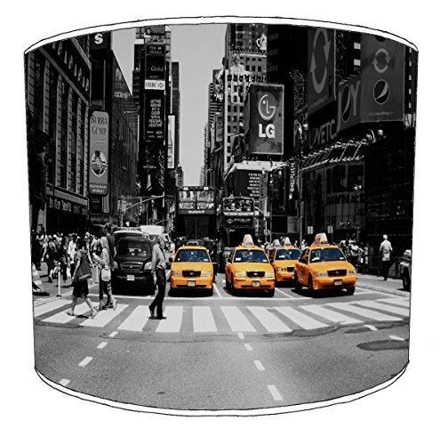 Premier Lighting Ltd 10 inch New York Black et White Street 4 cabs Abat-Jour pour Un plafonnier