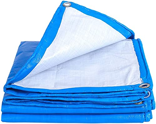 Ioouooi Bache- Bache imperméable épaisse avec des Oeillets, Tente Anti-poussière de bache de bache de bache de Parking de bache d'isolation de Pare-Soleil extérieur-200g   m2