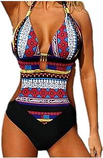e4afddf6fb3d Costumi da Bagno Interi Donna Trikini Costume da Mare Spiaggia Piscina Sexy  Bohemian in Pizzo Bikini