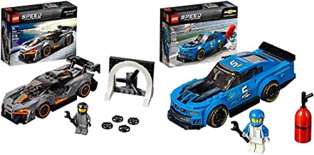 LEGO Speed Champions McLaren Senna 75892 Building Kit (219 Pieces) Speed Champions Chevrolet Camaro ZL1 Race Car 75891 Bui...