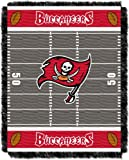 Officially Licensed NFL Tampa Bay Buccaneers 'Field' Woven Jacquard Baby Throw Blanket, 36' x 46', Multi Color