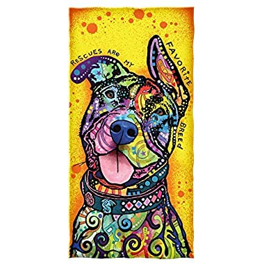 Dean Russo Rescues Are My Favorite Breed Cotton Beach Towel