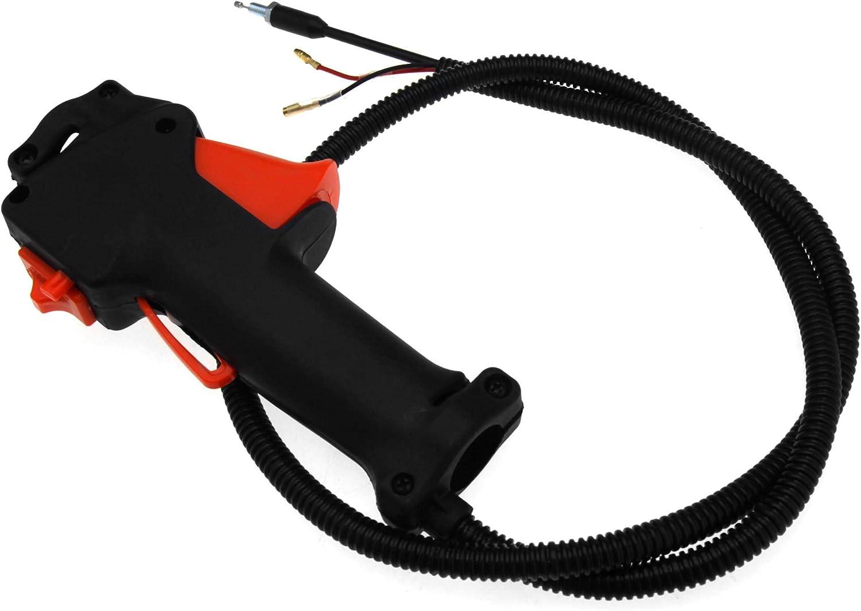 Create Idea Desbrozadora de Corte, 26 mm, Interruptor de Mango, Cable de Acelerador, Interruptor de Agarre