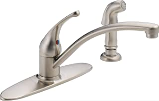 Delta 10901LF-SS Foundations Core-B Single Handle Kitchen Faucet with Spray Stainless