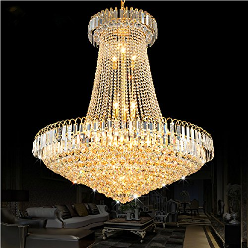 MSAJ-Goldene Kristall-Kronleuchter Leuchten die Wohnzimmer Restaurant Treppenhaus Kronleuchter Runde led Lampen , diameter 40cm* high 45cm