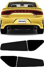 REVION Autoworks 2015-2019 Dodge Charger Tail Light Tint Kit   Precut Dark Black Smoke Vinyl Overlays for '15-'19 Dodge Charger Taillight   Tinted Dry Application Film